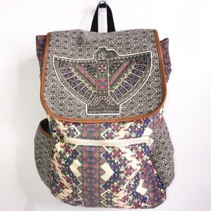 Mossino Boho Aztec Canvas School Festival Backpack